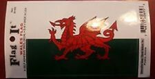 WELSH (WALES) FLAG ADHESIVE BUMPER STICKER DECAL - CELTIC DRAGON - Brand New