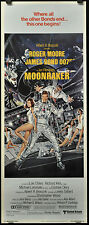 MOONRAKER 1979 ORIGINAL 14X36 MOVIE POSTER ROGER MOORE MICHAEL LONSDALE