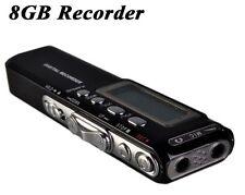 GRABADORA DE VOZ 8 Gb reproductor Digital Mp4 ESPIA DETECTIVE microfono cnp gc