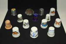 Thimble Thimbles Ceramic Wood Metal Beaver Leather Lot of 14 Collection