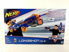 New NERF N-Strike Longshot CS-6 Blaster Blue Exclusive Packaging Shelf Wear