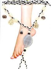 Fußkettchen Zehenring Fußkette Fußschmuck Stein Emaille Baumwoll Hippie Boho