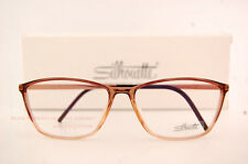 New Silhouette Eyeglass Frames SPX ILLUSION 1560 6060 Brown Women Men SZ 54
