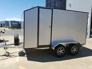 SILVER METALLIC ALLOY ENCLOSED TRAILER 3.6m - 100% AUSSIE MADE - FINANCE