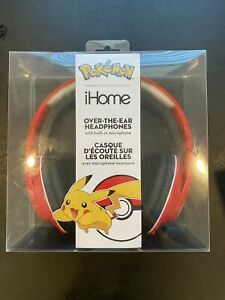 iHome Pokémon Over-The-Ear Headphones with Built-In Microphone - Brand New
