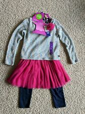 NWT *Dollie & Me* sz 1O magenta tulle dress denim leggings *NO doll outfit*