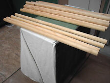 "Lot 6 New Amish woodshop over run 1 3/8"" Pine Wood Dowells 40 inches long"
