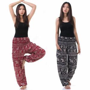 Orientalische Vegane Haremshose Aladinhose Hippie Thai Goa Yoga Hose Pumphose