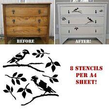 Love Birds Stencil Shabby Chic Furniture Fabric Ornate French Vintage MYLAR LOV2