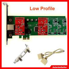 Asterisk Card TDM410 Low Profile,2FXS 2 FXO Card Freepbx Issabel FXO FXS TDM400P