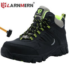LARNMERN Steel Toe Boots for Mens Safe Comfortable Industrial Construction Shoes