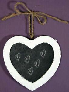 Heart Blackboard Medium. Hanging Message Chalk Board. Shabby Chic