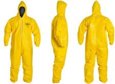 Dupont Tychem Tyvek QC QC127 Chemical Hazmat Suit LARGE YELLOW NEW SIZE L