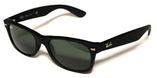 RAY BAN 2132 55 NEW WAYFARER 622 BLACK RUBBER SUNGLASSES OCCHIALE SOLE NERO
