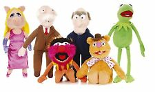 "NEW OFFICIAL 17-24"" THE MUPPETS SOFT TOY KERMIT MISS PIGGY ANIMAL WALDOF STATLER"