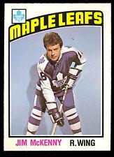 1976 77 OPC O PEE CHEE #302 JIM McKENNY NM TORONTO MAPLE LEAFS HOCKEY CARD