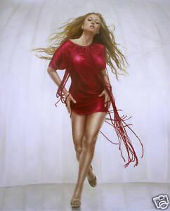 "Mariah Carey Original Oil Painting 20x24"" Ready To Hang"