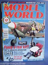 RCMW RC MODEL WORLD SEPTEMBER 2004 SPORTSTAR 53 PLANS SPITFIRE ELECTRIC F3A