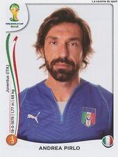N°327 ANDREA PIRLO # ITALIA STICKER PANINI WORLD CUP BRAZIL 2014