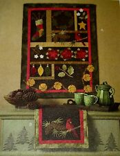 McCall's Craft PATTERN #M4991 CHRISTMAS QUILT WALL HANGING & TABLE RUNNER Uncut!