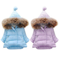 Baby Girls Kids Jacket Coat Winter Princess Solid Thick Casual Children Clothes