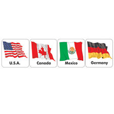 120 Stickers / 20 Countries Flags of the World Stickers. Free Delivery