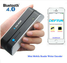 Atm Skimmer Bluetooth Msrx6(Bt) Magnetic Credit Card Reader Writer Encoder Swipe