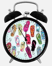"""Flip Flops Alarm Desk Clock 3.75"""" Home or Office Decor E126 Nice For Gift"""