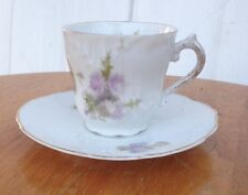 Antique  Weiman  Mini  Porcelain Teacup & Saucer Floral Design