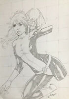 "Kitty Pryde (9""x12"") Original Art Comic Sexy Pinup By Jean - Ed Benes Studio"