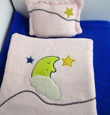 Puppenbettwäsche für Puppenwagen und Bettchen Wendebettwäsche -Mond-