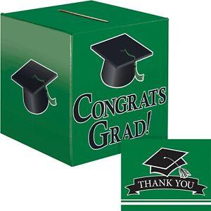 Green Graduation Card Box and Thank You Card Kit