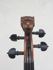 Bellissimo violino 4/4 con testa di leone, etichetta Jacobus Stainer