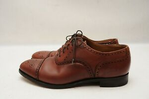 Brooks Brothers Peal & Co Brown Cap Toe Leather Mens Dress Shoes  Sz 9