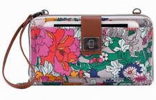 NWT Sakroots Large Smartphone Wristlet Crossbody Lilac Flower Power SHIP INTL