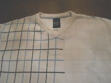SEAN JOHN LIGHTWEIGHT CREAM SWEATER WITH GREAT DESIGN SIZE L