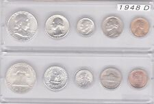 1948-D US Silver mint set - 5 Choice BU coins in Whitman plastic holder