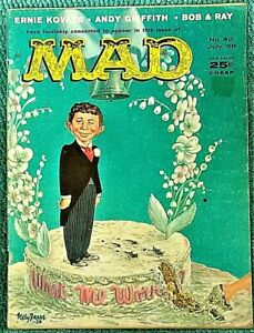 MAD Magazine #40 July 1958! VERY GOOD+! 4.5! $0.99 Start! SHARP! CLEAN! SOLID!!!