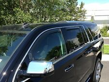 In-Channel Wind Deflectors for a 2015 - 2018 Cadillac Escalade ESV
