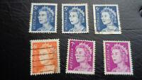 Australien, Briefmarke, Stamp, 1966, Konvolut = 6 Freimarken, Königin Elisabeth