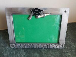 Lovely Congratulations Graduation Photo Tabletop Picture Frame Velvet Back 4x6