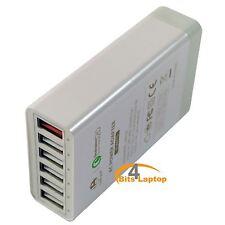 60W 6 Port Multi Fast Desktop USB Charger, Lite-am® Smart Charging Station