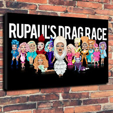 "Ru Paul's Drag Race Printed Canvas Picture A1.30""x20""..30mm Deep Drag Queen..."