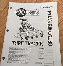 Turf Tracer Operators Manual Ex Mark Manufacturing Company