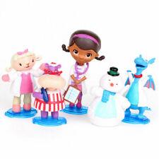 5 Pcs Doc McStuffins Stuffy Lambie Hallie Chilly Figure Cake Topper Play Set Toy
