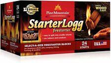 Firestarting Blocks Firestarter Wood Fire Log Campfire Fireplace Wood Stove 24pc
