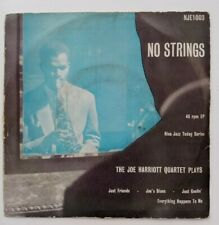 Joe Harriott Quartet - No Strings - Very Rare 1955 Nixa Jazz Today EP NJE-1003