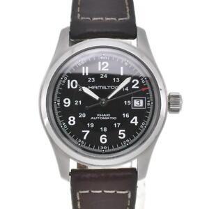 HAMILTON Khaki field H704450 Back schedule Date Automatic Men's Watch H#106670