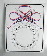 French Vintage Sign 'Restaurateurs de Métier des Provinces Françaises'