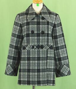 330 NWT Studio Three Forty Two by Florence Eiseman girl Gray & Black coat Size 8